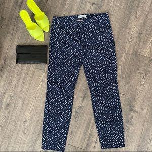 Gap Slim Ankle Cropped Polka Dot Pants